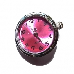 """Bouton pression """"montre rose"""" taille G"""