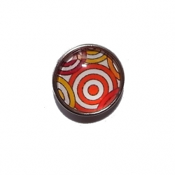 """Bouton pression """"cercles"""" taille G"""