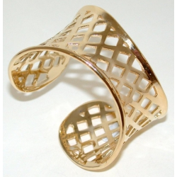 Bracelet plaqué or 3 microns ouvert