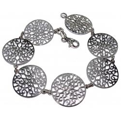 Bracelet argent rhodié 5,5g 20cm