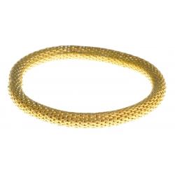 Bracelet fantaisie mailles dorées - réglable