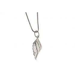 """Collier en argent rhodié 3,3g """"aile d'ange"""" - diamant - 40 cm"""
