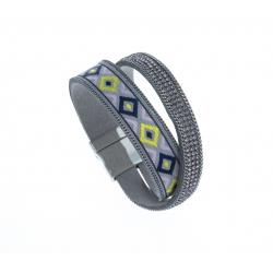 Bracelet fantaisie multicolore - strass - 19,5 cm