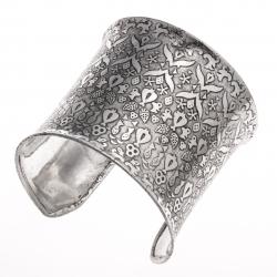 Manchette fantaisie métal argenté vieilli - hauteur 65 cm