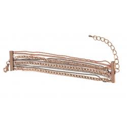Bracelet fantaisie multi-rangs - 15,5+6 cm