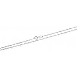 Chaine argent rhodié 3g - 60 cm