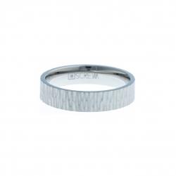 Anneau interne SCREW - acier - finition mate - 5 mm Homme/Femme - Taille 57 à 73