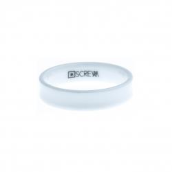 Anneau interne SCREW - céramique blanche incurvée - 5 mm - Taille 57 à 65