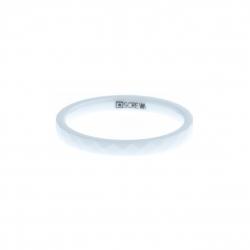 Anneau interne SCREW - céramique blanche facettée - 2,5 mm - Taille 55 à 65