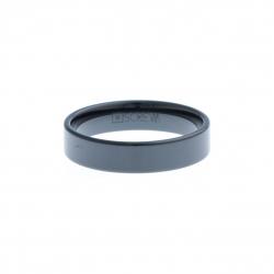 Anneau interne SCREW - céramique noire - 5 mm Homme/Femme - Taille 57 à 73