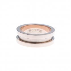 Bague support SCREW - 7,5 mm  - acier rosé – Taille 50 à 60