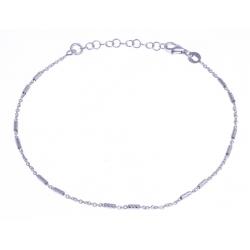 Chaine cheville argent rhodié 2,9g - 22+3cm