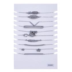 Présentoir 10 bracelets acier 16,5+2,5cm
