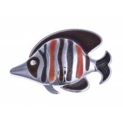 Broche fantaisie - poisson clown - strass