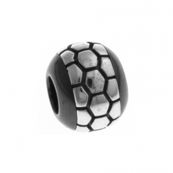 Charm en argent rhodié 1,4g - céramique noire