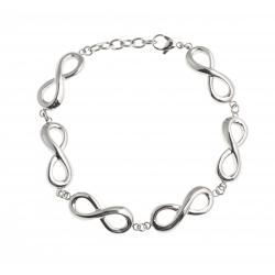 "Bracelet acier ""infinis"" - 19,5+3cm"