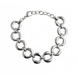 """Bracelet acier - """"ronds"""" - 17+4cm"""