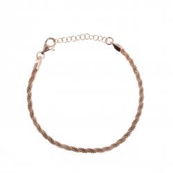Bracelet argent rhodié rosé 4g - 17+3cm