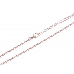 Chaine acier rosé - 45+5cm
