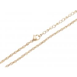 Chaine acier doré - 45+5cm
