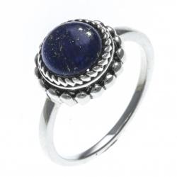 Bague argent rhodié 3,2g - lapis lazuli - T50 à 60