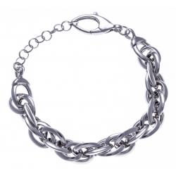 Bracelet argent rhodié 19,9g - 18+4cm