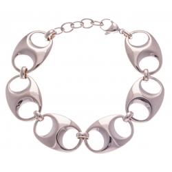 Bracelet acier rosé - grain de café - 17+3cm