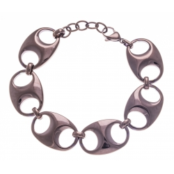 Bracelet acier café - grain de café - 17+3cm