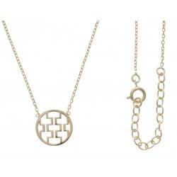 Collier plaqué or - motifs géométriques - 40+5cm