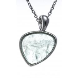 Collier argent rhodié 3,3g - fluorite - 38+5cm