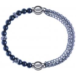 Apollon - Collection MiX - bracelet combinable hématite 6mm - 10cm + chaines - 10,25cm