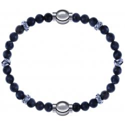 Apollon - Collection MiX - bracelet combinable labradorite 6mm - 10cm + labradorite 6mm - 10cm