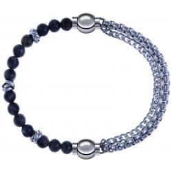 Apollon - Collection MiX - bracelet combinable labradorite 6mm - 10cm + chaines - 10,25cm