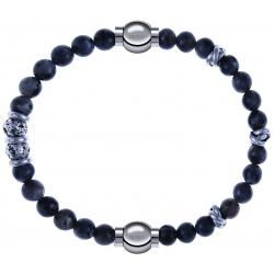 Apollon - Collection MiX - bracelet combinable sodalite 6mm - 10cm + labradorite 6mm - 10cm