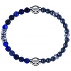 Apollon - Collection MiX - bracelet combinable labradorite 6mm - 10cm + hématite 6mm - 10cm