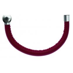 Bracelet combinable - Moitié - cuir italien rouge - diamètre 5mm - longueur 10,25cm