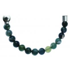 Bracelet combinable - Moitié - agate verte 6mm - longueur 10,25cm