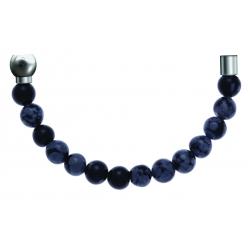 Bracelet combinable - Moitié - agate du botswana 6mm - longueur 10,25cm