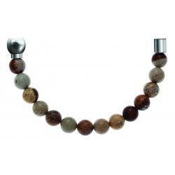 Bracelet combinable - Moitié - agate jaspe 6mm - longueur 10,25cm