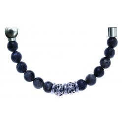 Bracelet combinable - Moitié - sodalite 6mm - composants acier - longueur 10cm