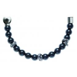 Bracelet combinable - Moitié - hématite 6mm - composants acier - longueur 10cm