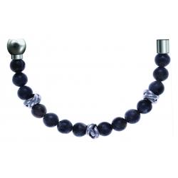 Bracelet combinable - Moitié - labradorite 6mm - composants acier - longueur 10cm