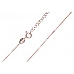 Chainer argent rosé 3g - maille vénitienne - 45+5cm