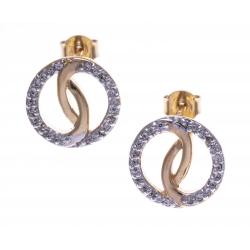 Boucles d'oreille plaqué or - zircons