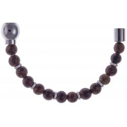 Apollon - Collection MiX - Moitié - bois marron clair - 6mm - composants acier - longueur 10,75cm