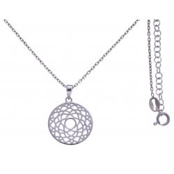 Collier argent rhodié 4,1g - chakra couronne - 38+5cm