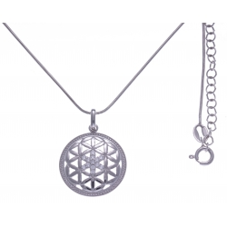Collier argent rhodié 5,8g - zircons - 45+5cm