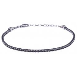 Bracelet argent veilli 6g - largeur 5cm - longueur 19+4cm