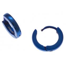 Créoles acier bleu  - diamètre 1cm