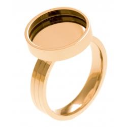 Bague en acier doré - support pierre interchangeable - diamètre 14mm - Taille 50 à 62